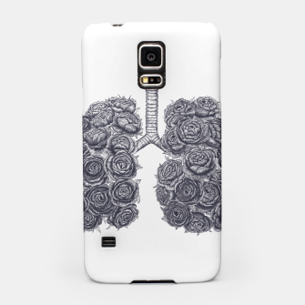 Thumbnail image of Lungs with peonies Samsung Case, Live Heroes