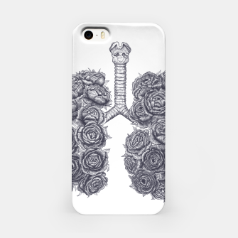 Thumbnail image of Lungs with peonies iPhone Case, Live Heroes