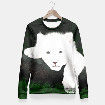 Thumbnail image of White Lion Fitted Waist Sweater, Live Heroes