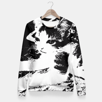 Thumbnail image of Little Kitten Fitted Waist Sweater, Live Heroes