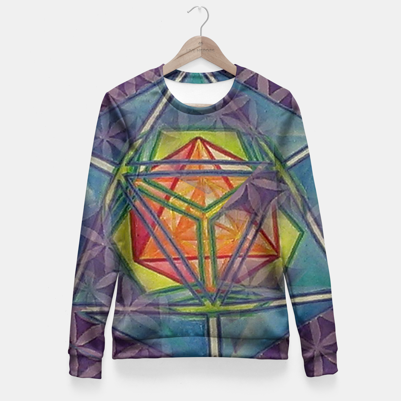 Image of Metatrons Salvation Fitted Waist Sweater - Live Heroes