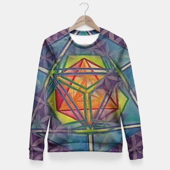Thumbnail image of Metatrons Salvation Fitted Waist Sweater, Live Heroes