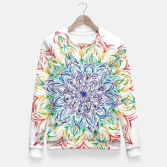 Thumbnail image of Rainbow mandala Fitted Waist Sweater, Live Heroes