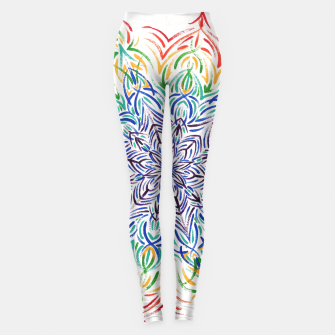 Thumbnail image of Rainbow mandala Leggings, Live Heroes