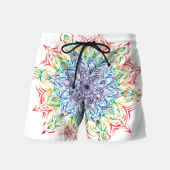 Thumbnail image of Rainbow mandala Swim Shorts, Live Heroes
