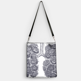 Thumbnail image of Lungs with peonies Handbag, Live Heroes