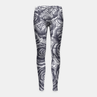 Thumbnail image of Lungs with peonies Girl's Leggings, Live Heroes