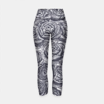 Thumbnail image of Lungs with peonies Yoga Pants, Live Heroes