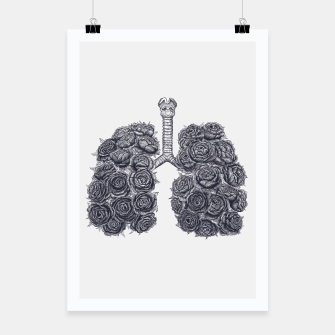 Thumbnail image of Lungs with peonies Poster, Live Heroes