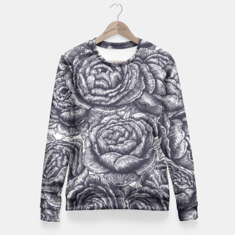 Thumbnail image of Lungs with peonies Fitted Waist Sweater, Live Heroes