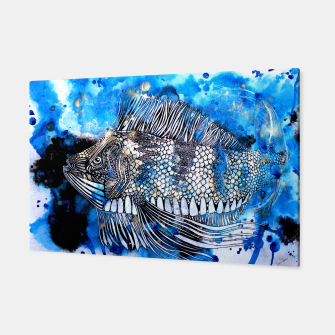 Thumbnail image of Beautiful but angry fish Canvas, Live Heroes