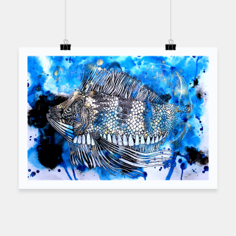 Thumbnail image of Beautiful but angry fish Poster, Live Heroes