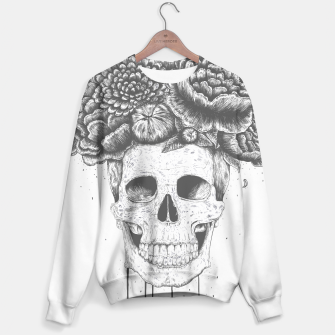 Thumbnail image of Skull with flowers Sweater, Live Heroes