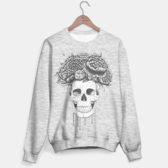 Miniatur Skull with flowers Sweater regular, Live Heroes