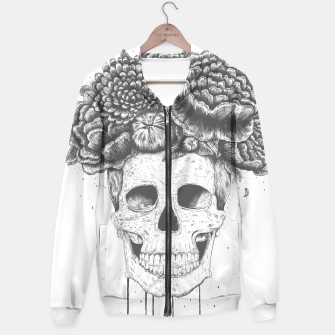 Thumbnail image of Skull with flowers Hoodie, Live Heroes