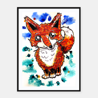Thumbnail image of Cuterrr Fox Framed poster, Live Heroes