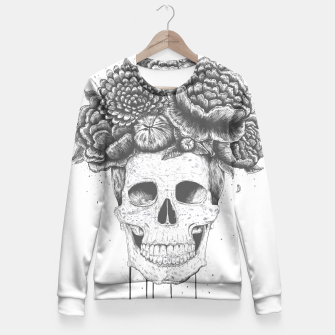 Miniatur Skull with flowers Fitted Waist Sweater, Live Heroes