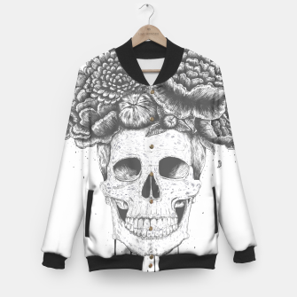 Thumbnail image of Skull with flowers Baseball Jacket, Live Heroes