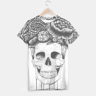Thumbnail image of Skull with flowers T-shirt, Live Heroes