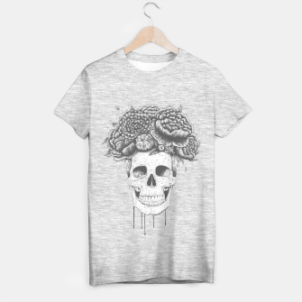Imagen en miniatura de Skull with flowers T-shirt regular, Live Heroes