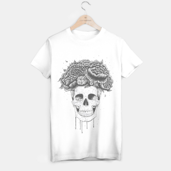 Thumbnail image of Skull with flowers T-shirt regular, Live Heroes