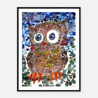 Thumbnail image of Woot Hoot Framed poster, Live Heroes