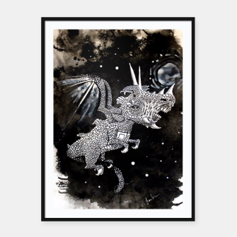 Thumbnail image of Moon dragon Framed poster, Live Heroes