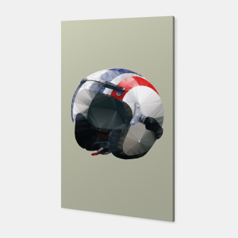 Thumbnail image of Steve McQueen Cafe Racer Helmet Polygon Art Canvas, Live Heroes