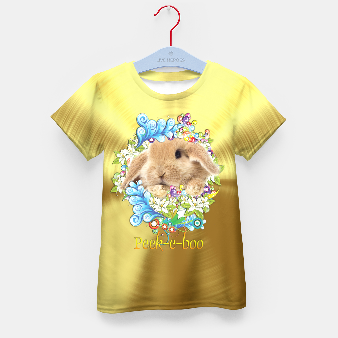 Image of Peek-a-Book Bunny Kid's T-shirt - Live Heroes