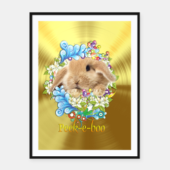 Thumbnail image of Peek-a-Book Bunny Framed poster, Live Heroes