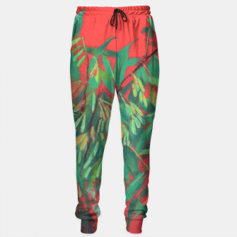 Thumbnail image of Ash-Tree in Green & Red, floral art, summer greenery Sweatpants, Live Heroes