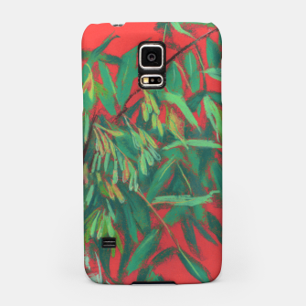 Thumbnail image of Ash-Tree in Green & Red, floral art, summer greenery Samsung Case, Live Heroes