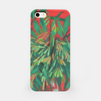 Thumbnail image of Ash-Tree in Green & Red, floral art, summer greenery iPhone Case, Live Heroes
