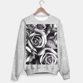 Thumbnail image of black and white roses texture background Sweater regular, Live Heroes