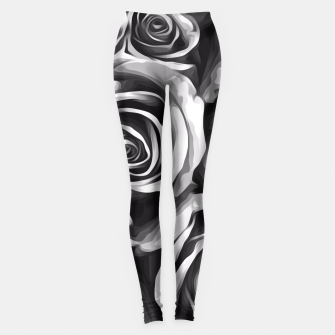Thumbnail image of black and white roses texture background Leggings, Live Heroes