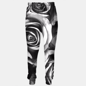 Thumbnail image of black and white roses texture background Sweatpants, Live Heroes