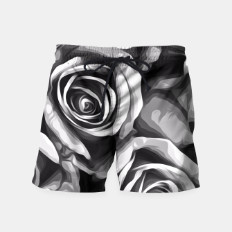 Thumbnail image of black and white roses texture background Swim Shorts, Live Heroes