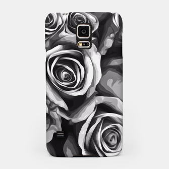 Thumbnail image of black and white roses texture background Samsung Case, Live Heroes