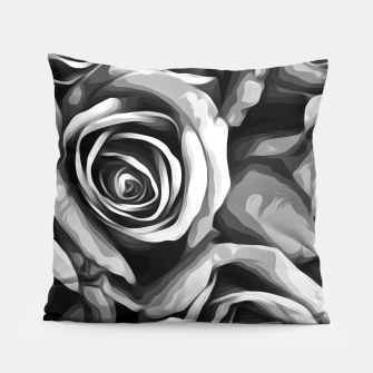 Thumbnail image of black and white roses texture background Pillow, Live Heroes