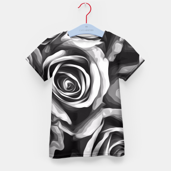 Thumbnail image of black and white roses texture background Kid's T-shirt, Live Heroes