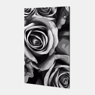 Thumbnail image of black and white roses texture background Canvas, Live Heroes
