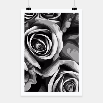 Thumbnail image of black and white roses texture background Poster, Live Heroes