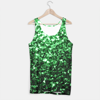 Miniaturka Beautiful Glamour Dark Green glitter sparkles Tank Top, Live Heroes