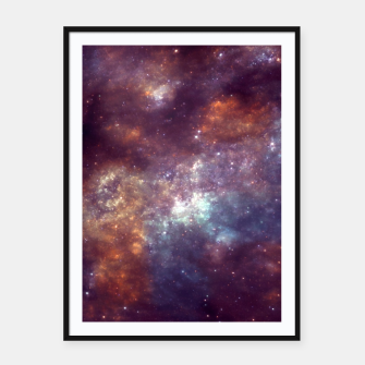 "Thumbnail image of ""Color your universe"" Framed poster, Live Heroes"