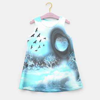 Space river Girl's Summer Dress obraz miniatury