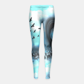 Space river Girl's Leggings obraz miniatury
