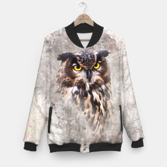 Thumbnail image of Watercolor Owl College-Jacke, Live Heroes