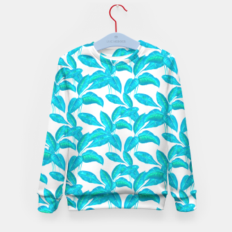 Miniatur Spring Mint Rubber Leaves Pattern  Kid's Sweater, Live Heroes