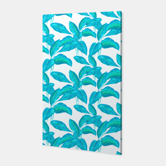 Thumbnail image of Spring Mint Rubber Leaves Pattern  Canvas, Live Heroes