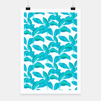 Miniatur Spring Mint Rubber Leaves Pattern  Poster, Live Heroes